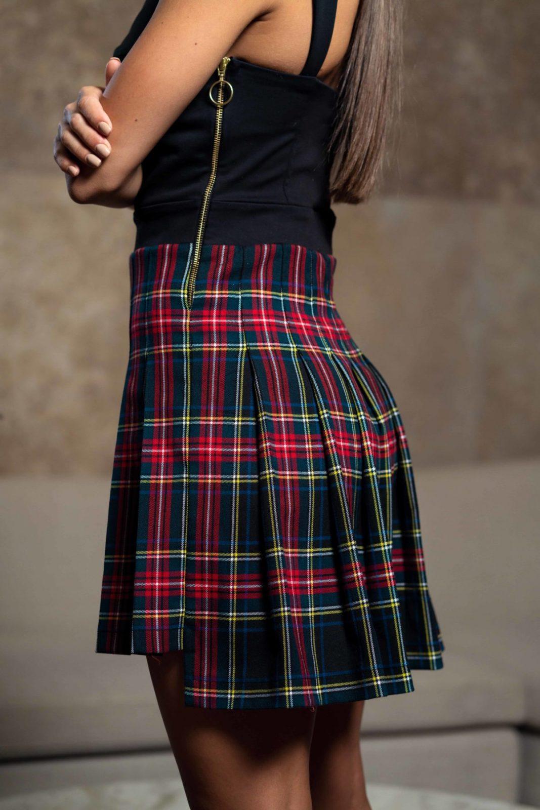Къса рокля корсет