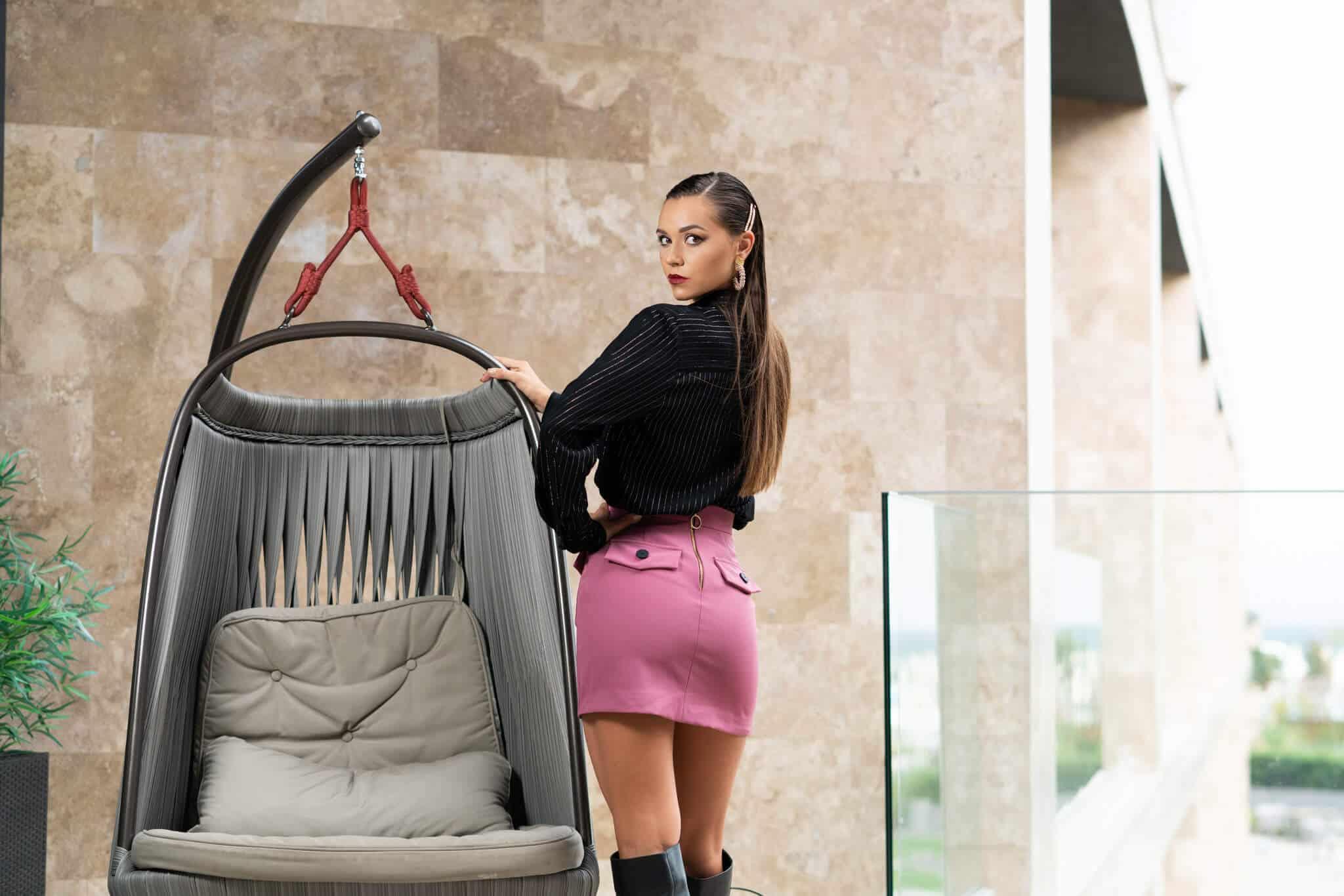 Къса пола с джобове