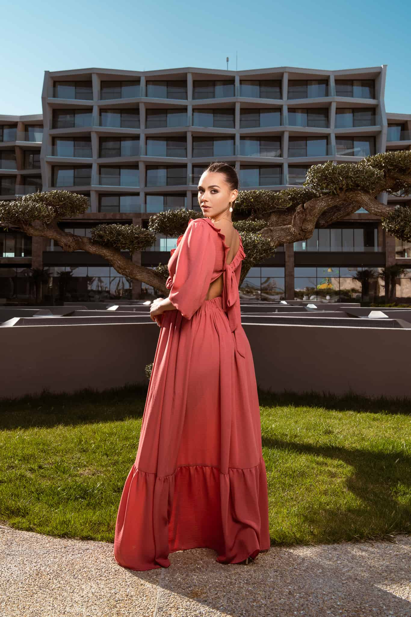 Дълга рокля Peonia